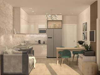 Экостиль с подвесным креслом Кухня в стиле минимализм от Кристина Швецова - дизайн с душой Минимализм