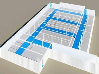 U.M.A.H ( Unidad Modular de Atención Hospitalaria) Casas modernas de Home Box Arquitectura Moderno