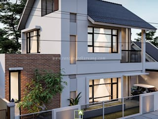 Rancang Reka Ruang Single family home Bricks White