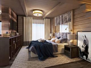 Охотничий дом из бруса Спальня в классическом стиле от Студия интерьеров Зориной Елены Классический