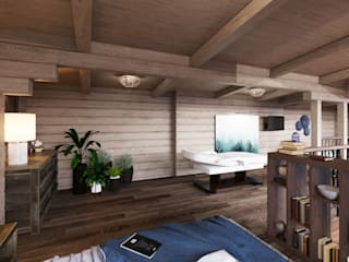 Охотничий дом из бруса Рабочий кабинет в классическом стиле от Студия интерьеров Зориной Елены Классический