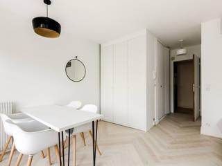 Paris - proche banlieue Salon minimaliste par VSD / VERONICA SOLARI DESIGN Minimaliste