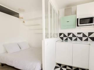 Paris - proche banlieue Chambre minimaliste par VSD / VERONICA SOLARI DESIGN Minimaliste