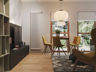 Living room in Munich bởi 3D GROUP Hiện đại