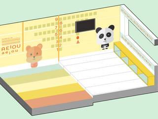Phòng học/văn phòng phong cách tối giản bởi JAM architecture Tối giản