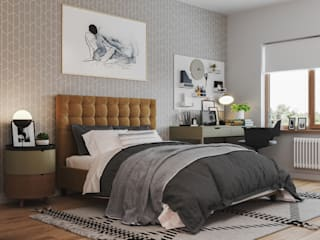Bedroom in Munich من 3D GROUP حداثي