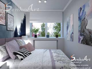 Nowoczesny Projekt Sypialni od Senkoart Design Skandynawski