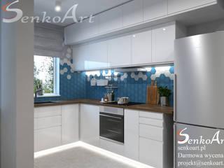 Projekt Kuchni w Nowoczesnym Stylu od Senkoart Design Nowoczesny