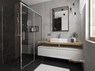 Projekt łazienki Minimalistyczna łazienka od MYSPROJEKT Marek Myszkowski Minimalistyczny