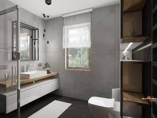 Projekt łazienki Nowoczesna łazienka od MYSPROJEKT Marek Myszkowski Nowoczesny