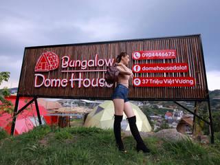 Bảng hiệu Dome House Bungalow bởi Công ty TNHH Ông Kien Mộc mạc Gỗ Wood effect