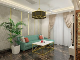 Indirapuram 2BHK home with plush interior. : modern  by Lakkad Works,Modern
