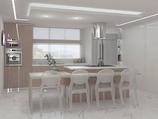Diseño para apartamento Cocinas de estilo moderno de Diaf design Moderno