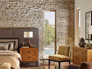 wall cladding in chennai Blue Interior Designs Small bedroom Stone Brown