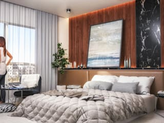 Apartment At Sodic Modern Bedroom by KAD Modern
