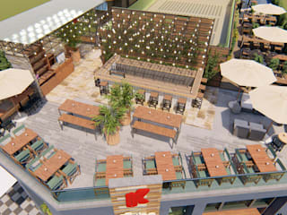 Terraza restaurant Kubo Balcones y terrazas industriales de Skla Urbana Industrial