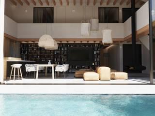 Reforma casa rustica Can PEP, Palma de Mallorca. ponyANDcucoBYgigi Comedores de estilo mediterráneo