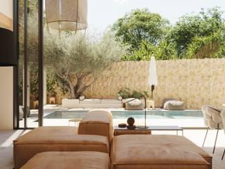 Vista del interior hacia el jardín. ponyANDcucoBYgigi Jardines de estilo mediterráneo