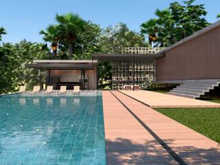 AVR Studio Arquitetura Kolam renang halaman