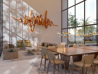 AVR Studio Arquitetura Ruang Makan Modern