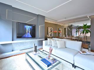 Sala de estar e lavabo Salas de estar modernas por Juliana Damasio Arquitetura Moderno