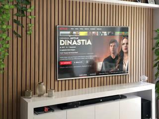 Sala de estar e cozinha Salas de estar modernas por Juliana Damasio Arquitetura Moderno