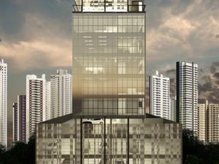 Edifício F Edifícios comerciais modernos por Escritório Silvana Caporal Moderno