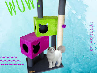 Gimnasio rascador para gatos, referencia Volga de ModuCat Estructuras modulares para gatos Moderno