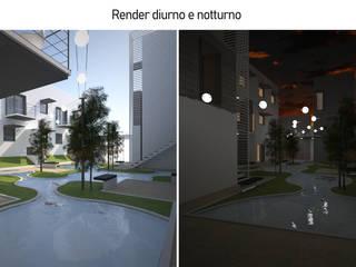 Social Housing Matera Case in stile mediterraneo di FAD Fucine Architettura Design S.r.l. Mediterraneo