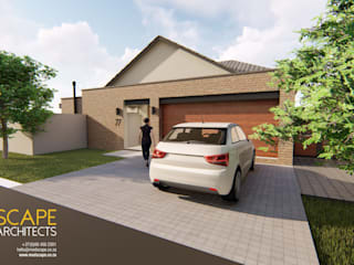 Modern 3 Bedroom House, Pretoria Modern houses by Modscape Architects Modern
