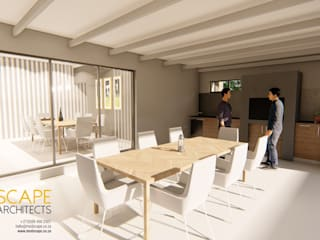 Modern 3 Bedroom House, Pretoria Modern dining room by Modscape Architects Modern