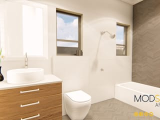 Modern 3 Bedroom House, Pretoria Modern bathroom by Modscape Architects Modern