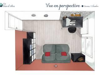 Bureau / chambre d'amis rouge terracotta par La Déco d'Alice