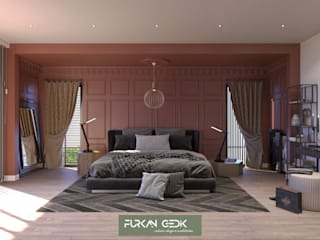 Güzelce Villa - Yatak Odası Tasarımı FURKAN GEDIK INTERIOR DESIGN & ARCHITECTURE