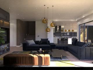 Guzelce Villa - Yaşam Alanı Tasarımı FURKAN GEDIK INTERIOR DESIGN & ARCHITECTURE