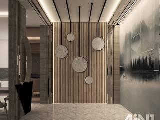 Forest City Condo Design four in one design sdn bhd Modern corridor, hallway & stairs
