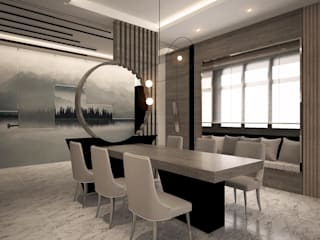Forest City Condo Design four in one design sdn bhd Modern dining room