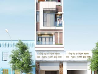 THIẾT KẾ NHÀ PHỐ KẾT HỢP KINH DOANH HẢI DƯƠNG bởi Công ty CP kiến trúc và xây dựng Eco Home