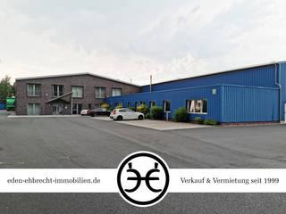 HOCHWERTIGE UND REPRÄSENTATIVE GEWERBEIMMOBILIE MIT 4 HALLEN & BÜRO | SANDE | WILHELMSHAVEN Industriale Bürogebäude von Eden-Ehbrecht Immobilien & Marketing GbR Industrial
