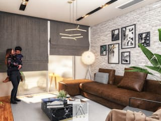 Apartment At Sodic Modern Living Room by KAD Modern
