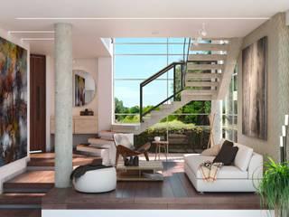 Casa F Salas de estilo minimalista de Raum360 S.A.S Minimalista