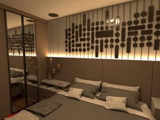 Suite Casal com Closet Quartos modernos por CrieAtive Arqdesign Moderno