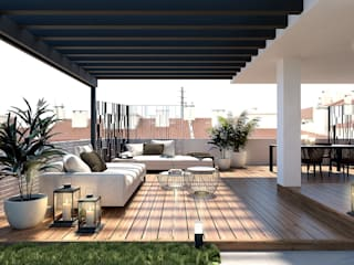 Rooftop Diamante Jardins modernos por Arquismart, Lda Moderno
