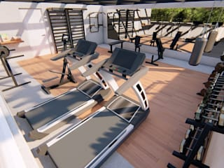 Fitness minimalistas por EA ARCHITECTURE & FURNITURE Minimalista