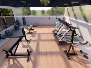 Proyecto Gym para Casa Habitación. (Quarantine) C.d. de México Gimnasios domésticos minimalistas de EA ARCHITECTURE & FURNITURE Minimalista