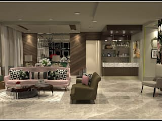 Eclectic bachelorette home Eclectic style living room by Design Journey Eclectic