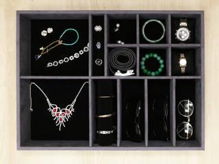 首飾收納抽 辰昱國際包裝有限公司 更衣室衣櫥與櫥櫃 布織品 Black