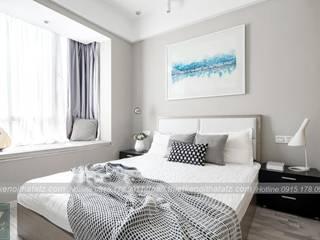 Thiết kế nội thất chung cư 45m2 2 phòng ngủ đẹp chưa tới 80 triệu: hiện đại  by ATZ LUXURY, Hiện đại