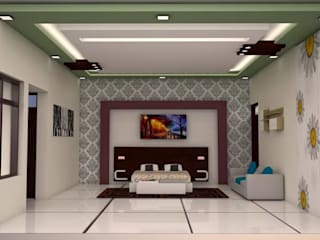 False ceiling in chennai Modern style bedroom by Blue Interior Designs Modern