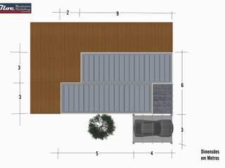 Casas modulares - Modelo BLOC Linea T2 - 54 m2 por BLOC - Casas Modulares Moderno